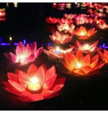 Lanterne Fleur de lotus flottante