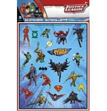 4 planches de stickers super héros