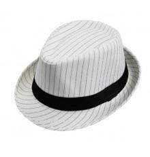 Chapeau de gangster rayé