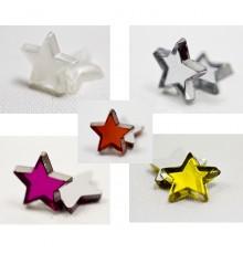 Paquet de 48 petites étoiles à effet miroir