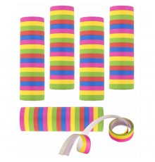 Lot de 5 Rouleaux Serpentins Multicolores