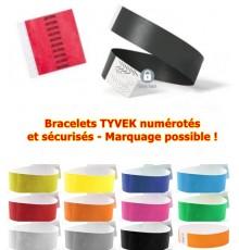 """Bracelet """"Events"""" numérotés en Tyvek"""