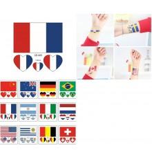 4 tatouages temporaires drapeau France