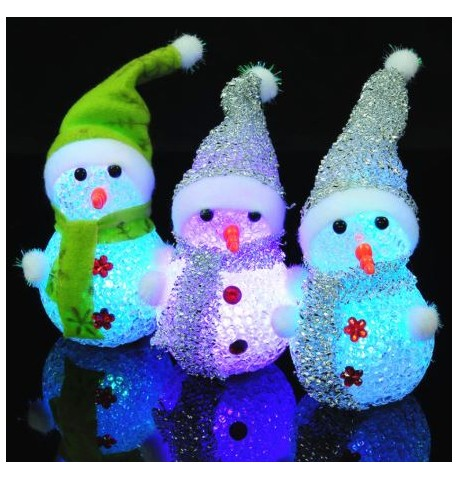 Bonhomme de neige lumineux