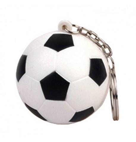 Porte-clés Ballon de football 4cm blanc