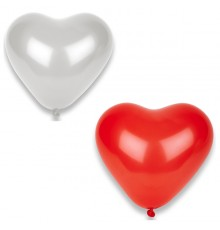 Lot de 8 ballons en forme de coeur