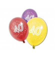 Pack de 8 Ballons Anniversaire Multicolore en Latex
