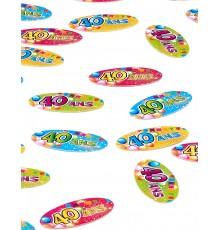 Sachet de 80 Confettis de Table Anniversaire Fiesta
