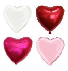 Ballon aluminium en forme de cœur