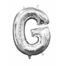 Ballon Lettre Argentée 33 cm en Aluminium