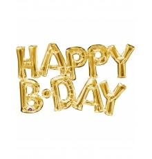 "Ballon Aluminium ""Happy Birthday"""