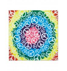 Bandana motif Hippie multicolore 55 x 55 cm