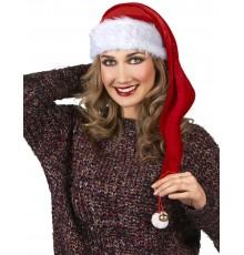 Long Bonnet de Noël avec Grelots et Pompon