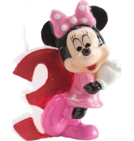 Bougie chiffre Minnie