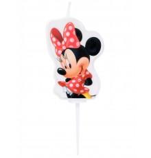 Bougie d'Anniversaire Mickey et Minnie 4,5 cm