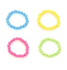 Bracelet de Perles en Plastique Coloré