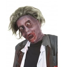 Cagoule zombie avec perruque adulte Halloween