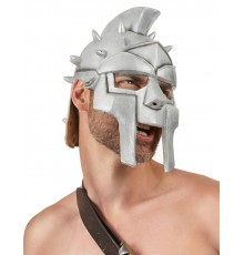 Casque de Guerrier Gris en Latex