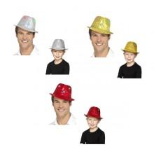 Chapeau Borsalino à Sequins avec LED