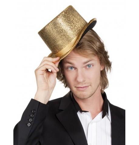 Chapeau Haut de Forme avec Bande Satiné