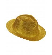 Chapeau Pailleté Or et Rouge 55 cm