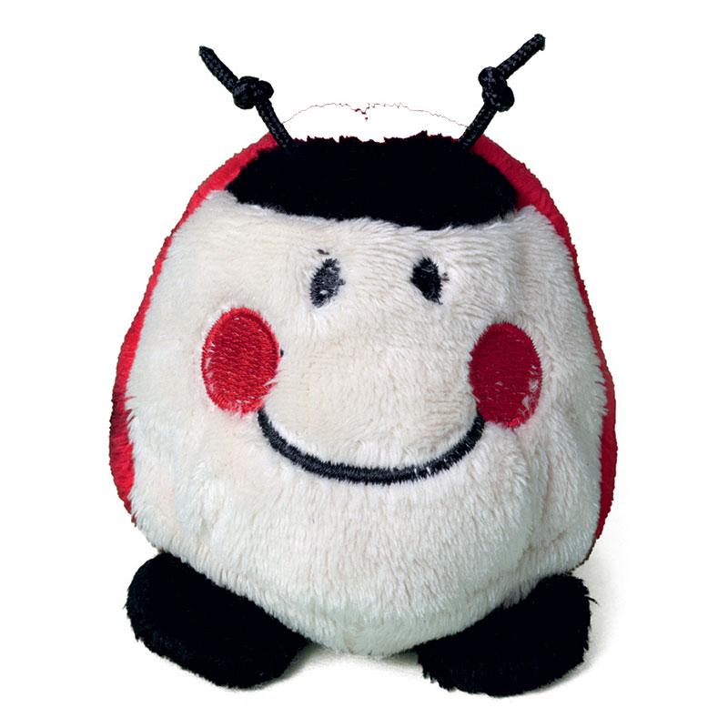 Peluche coccinelle  blanc et rouge 7 cm