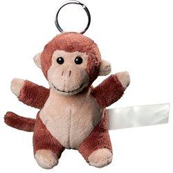 Porte clés peluche singe  marron 10 cm