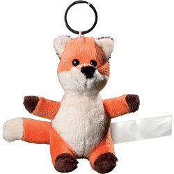 Porte clés peluche renard  orange 10 cm