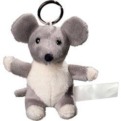Porte clés peluche souris  gris 10 cm