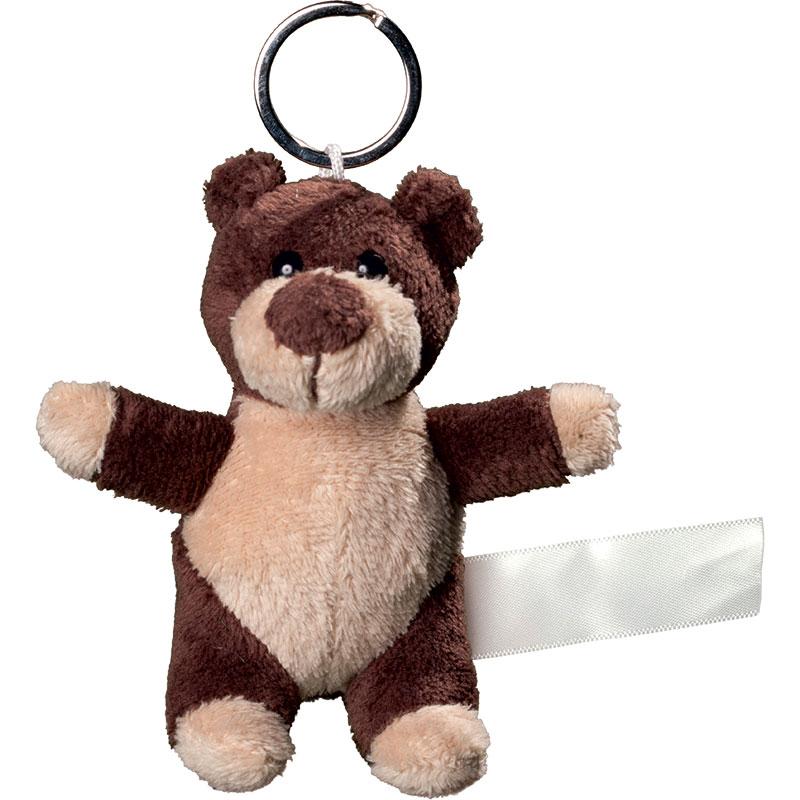 Porte clés peluche ours  marron 10 cm