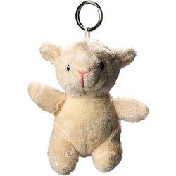 Porte clés peluche mouton  crème 10 cm