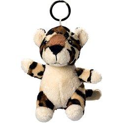 Porte clés peluche léopard  brun safari 10 cm