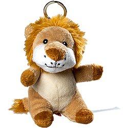 Porte clés peluche lion  marron 10 cm