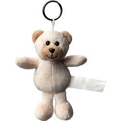 Porte clés peluche ours  marron clair 8 cm