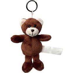 Porte clés peluche ours  marron foncé 8 cm