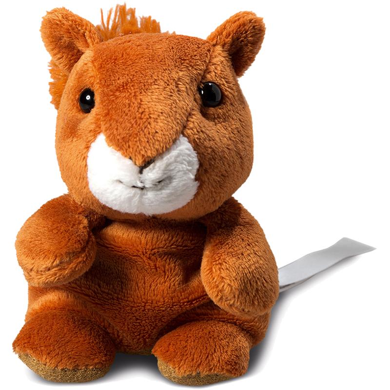 Peluche écureuil  marron 12 cm