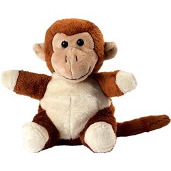 Peluche singe  marron 14 cm