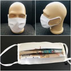 Masque de protection visage publicitaire anti-virus réutilisable