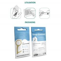 clé laiton antibactérien presse boutons ouvre porte personnalisé