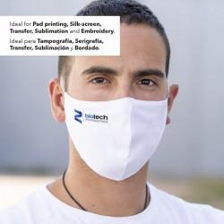 Masque hygiénique réutilisable antibactérien et hydrofuge leik