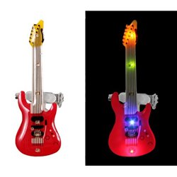 Badge led Guitare Rouge