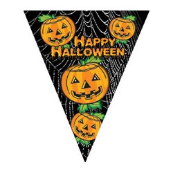 "Guirlande 10 Fanions ""Happy Halloween"""