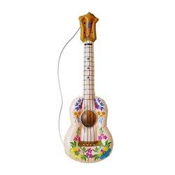 Guitare Gonflable à Motifs Fleurs avec Corde