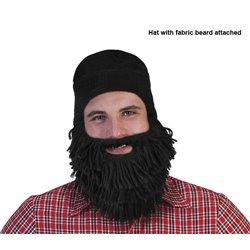 Chapeau avec Barbe Attachée Noir en Laine
