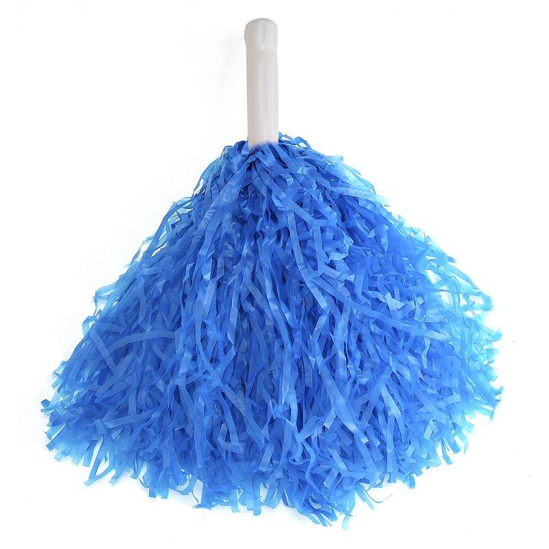 Paire de Pompons Pom Pom Girl avec Poignée Bleu