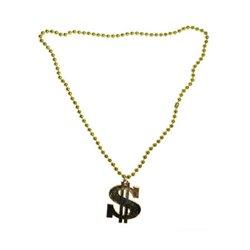 Collier en Plastique modèle Dollar Doré