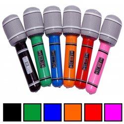 Microphone Gonflable d'une Taille 24 cm et de Différentes Couleurs