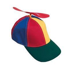 Casquette de Clown Multicolore à Hélice