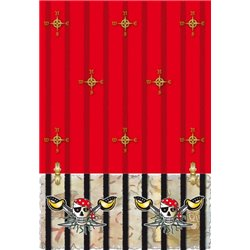 Nappe de Table Red Motif Pirate
