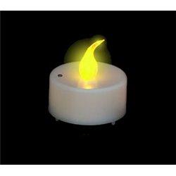 Bougie Led Blanche à Flamme Vacillante Jaune